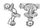Weklice - zapinka zdobiona srebrną folią