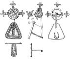 Weklice - srebrna zapinka rozetowa zdobiona złotą folią