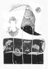 Kameleon  (20x26 cm, rysunek tuszem)