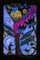 Noc należy do ptaków I (18x25 cm, pastele, ołówek)