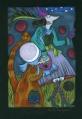 Panna Munia odkrywa Kosmos  (16x24 cm, ołówek, kredki)