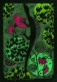 Zielona jaszczurka  (18x26 cm, ołówek, kredki)