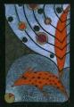 Lis i planety  (18x26 cm, ołówek, kredki)