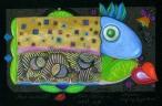 Zdrowa ryba  (17x25 cm, ołówek, kredki)