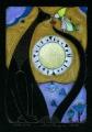 Kot czarny IV  (15x22 cm, ołówek, kredki)