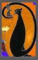 Kot czarny V  (15x21 cm)