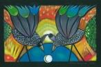 Urodziny Księżyca II  (16x24 cm, ołówek, kredki)