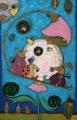 Na huśtawce  (55x80 cm, pastele olejne)