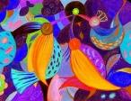 Noc należy do ptaków II (16x23 cm, pastele, ołówek)
